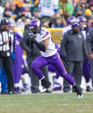 Nov 24, 2013; Green Bay, WI, USA; Minnesota Vikings cornerback Shaun Prater (27) during the game against the Green Bay Packers at Lambeau Field. The Vikings and Packers tied 26-26. Mandatory Credit: Jeff Hanisch-USA TODAY Sports