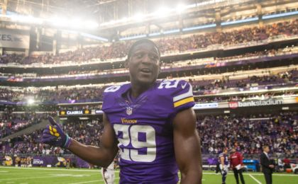 Nov 20, 2016; Minneapolis, MN, USA; Minnesota Vikings cornerback Xavier Rhodes (29) looks on following the game against the Arizona Cardinals at U.S. Bank Stadium. The Vikings defeated the Cardinals 30-24. Mandatory Credit: Brace Hemmelgarn-USA TODAY Sports