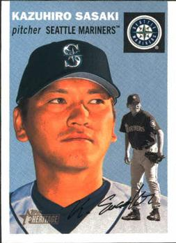 A 2003 baseball card of Kaz.