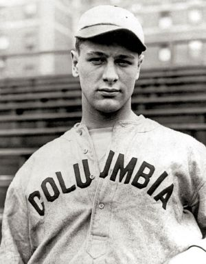 Lou Gehrig during his time at Columbia University