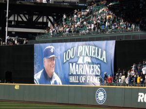 Lou Piniella is honored prior to the start of Saturday's game against the White Sox. Credit- JJ Keller