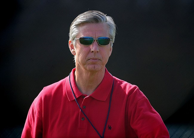 Feb 21, 2012; Lakeland, FL, USA; Detroit Tigers general manager Dave Dombrowski during spring training at Joker Merchant Stadium. Mandatory Credit: Andrew Weber-USA TODAY Sports