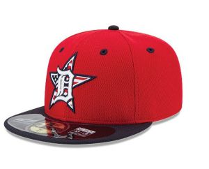 This is the cap the Detroit Tigers will wear in their July 4th meeting with the Tampa Rays at Comerica Park.