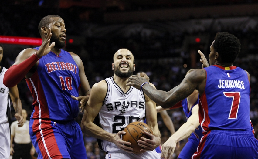 Brandon Jennings layup leads Pistons to upset win at Spurs