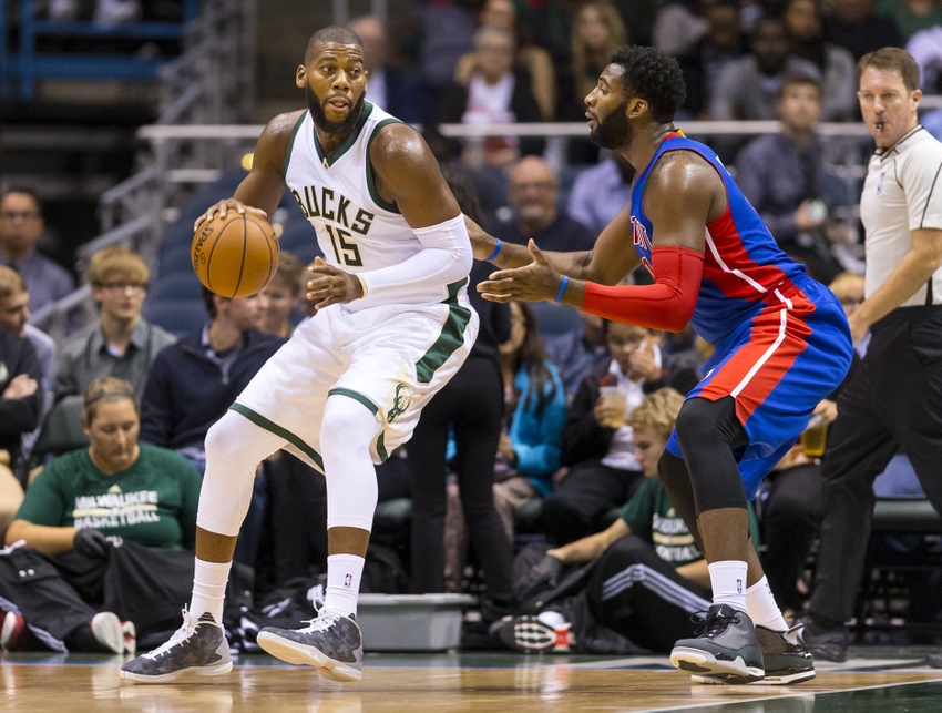 Andre-drummond-greg-monroe-nba-preseason-detroit-pistons-milwaukee-bucks