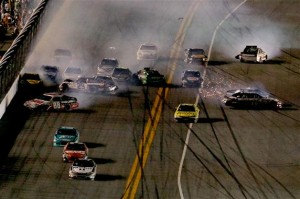 2012 Daytona July NASCAR Sprint Cup Series Race Finish Incident