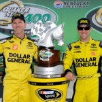 Matt Kenseth (right) and crew chief Jason Ratcliff celebrate a win at Kentucky Speedway
