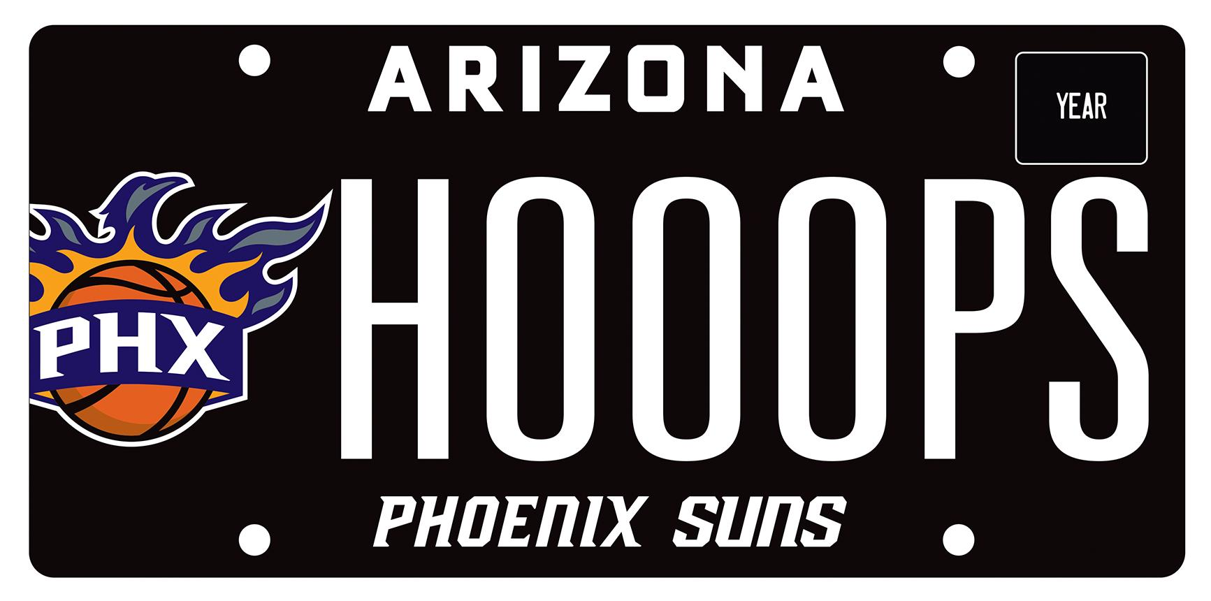 new car plate releaseSuns release new look license plate