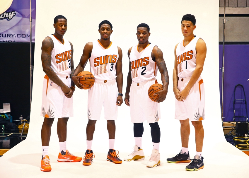 Eric-bledsoe-brandon-knight-archie-goodwin-devin-booker-nba-phoenix-suns-media-day