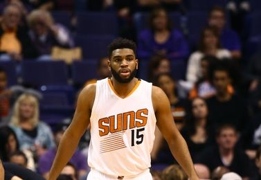 Nov 27, 2016; Phoenix, AZ, USA; Phoenix Suns forward Alan Williams against the Denver Nuggets at Talking Stick Resort Arena. The Nuggets defeated the Suns 118-114. Mandatory Credit: Mark J. Rebilas-USA TODAY Sports