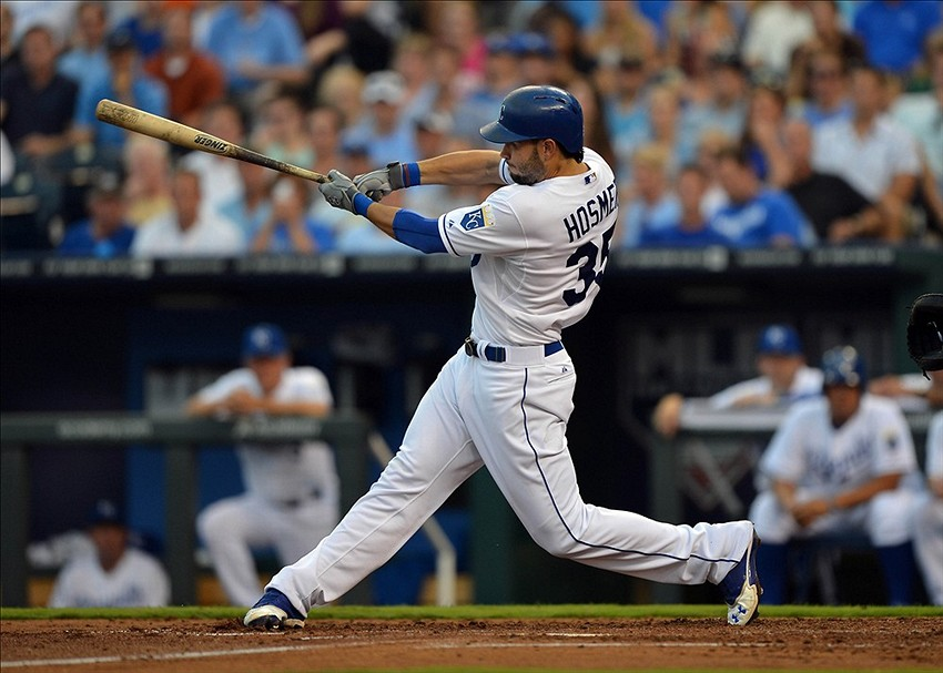 singles in hosmer Lorenzo cain hit a game-tying, two-run homer with two outs in the ninth to help royals get past tigers.