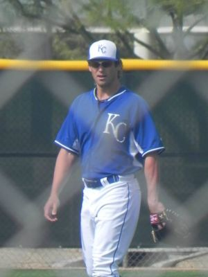 Brett Eibner during spring training in 2014 (Jen Nevius).