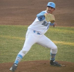 Blue Rocks starter Sean Manaea in their home opener on April 8, 2014 (Jen Nevius).