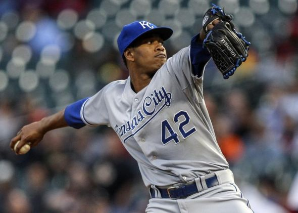 Yordano Ventura Mandatory Credit: Troy Taormina-USA TODAY Sports