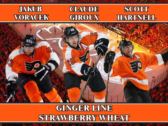 Philadelphia Flyers Ginger Line Beer