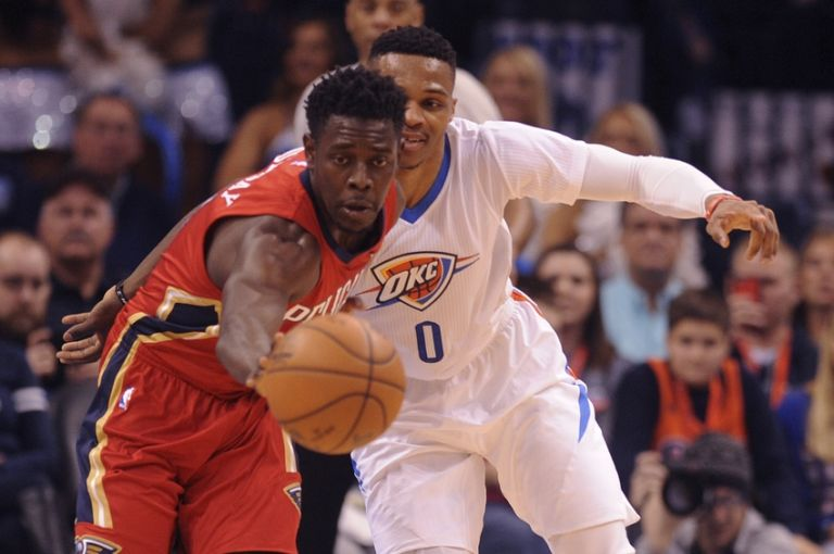 Russell-westbrook-jrue-holiday-nba-new-orleans-pelicans-oklahoma-city-thunder-768x0
