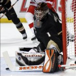 Jonas Hiller has been the catalyst behind the Ducks' winning ways recently (AP Photo)