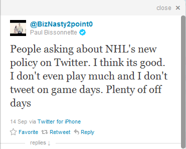 posted via twitter @biznasty2point0 on sept. 15, 2011