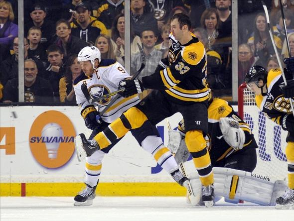Sabres play Bruins earlier this season