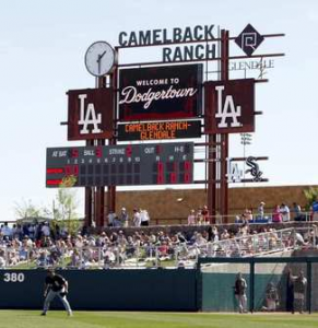 The Dodgers will play 21 Cactus League games at Camelback Ranch this Spring.