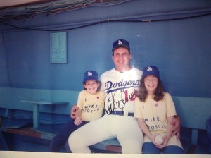 Stacie and I with Mike Scioscia Circa-1990 Photo: Scott Andes & Stacie Wheeler