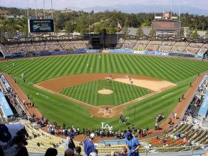 Dodger Stadium will be to capacity for Game 3 on Sunday. Dodger Stadium in 2010. Photo: Stacie Wheeler