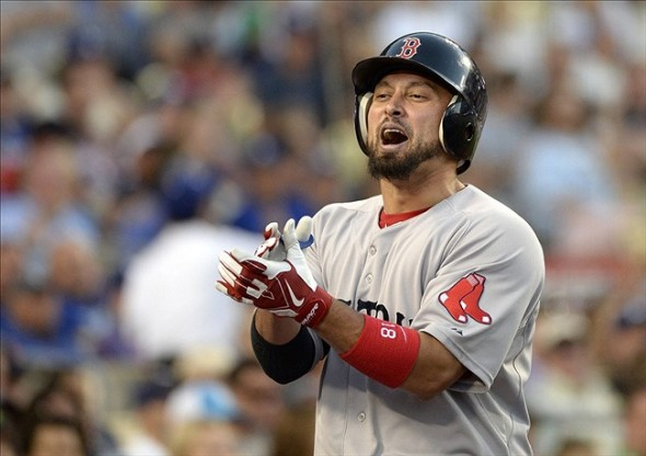 You are awful Victorino, just awful-Richard Mackson-USA TODAY Sports