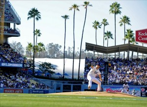 Clayton Kershaw pitching at Dodger Stadium is a beautiful thing. Photo: Jayne Kamin-Oncea-USA TODAY Sports