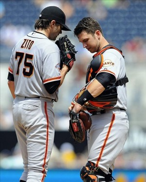 Barry Zito makes his final start as a Giant. Photo: Christopher Hanewinckel-USA TODAY Sports