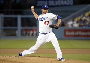 Ricky Nolasco has been dynamite as a Dodger so far. Photo: Richard Mackson-USA TODAY Sports