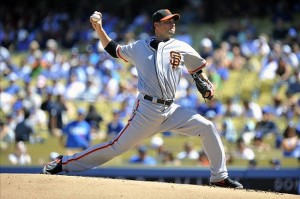 Ryan Vogelsong's only mistake was to Gonzo. Photo: Gary A. Vasquez-USA TODAY Sports