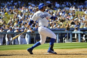 Adrian Gonzalez's bases clearing double in the fifth inning tied up the game. Photo: Gary A. Vasquez-USA TODAY Sports