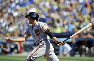 Hunter Pence hit two homeruns on Sunday and five homeruns in the four-game series against the Dodgers. Photo: Gary A. Vasquez-USA TODAY Sports