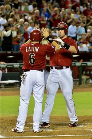 Paul Goldschmidt hits yet another homerun against the Dodgers. Photo: Matt Kartozian-USA TODAY Sports