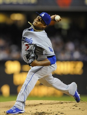 Edinson Volquez only allowed 1 earned run on 4 hits in a decent outing for the right-hander. Photo: Christopher Hanewinckel-USA TODAY Sports