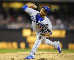 Edinson Volquez or Carlos Marmol get a spot on the postseason roster? Photo: Christopher Hanewinckel-USA TODAY Sports