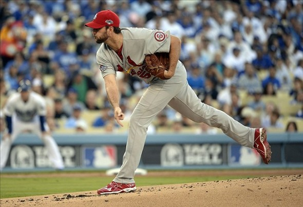 Wainwright took his first postseason loss tonight-Richard Mackson-USA TODAY Sports
