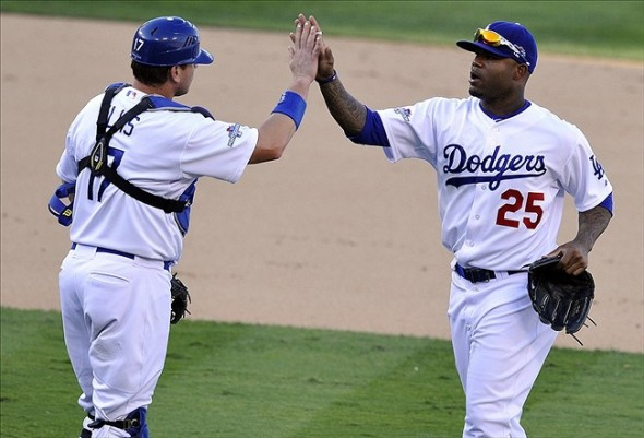 Dodgers Win!-Robert Hanashiro-USA TODAY Sports