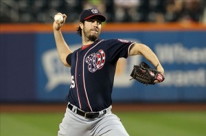 Dan Haren is happy to pitch again on the west coast and for a contending team. Photo: Brad Penner-USA TODAY Sports