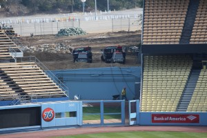 Dodger Stadium upgrades to bullpen areas. Photo: Stacie Wheeler