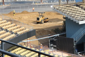 Offseason upgrades will add bullpen lookout areas. Photo: Stacie Wheeler