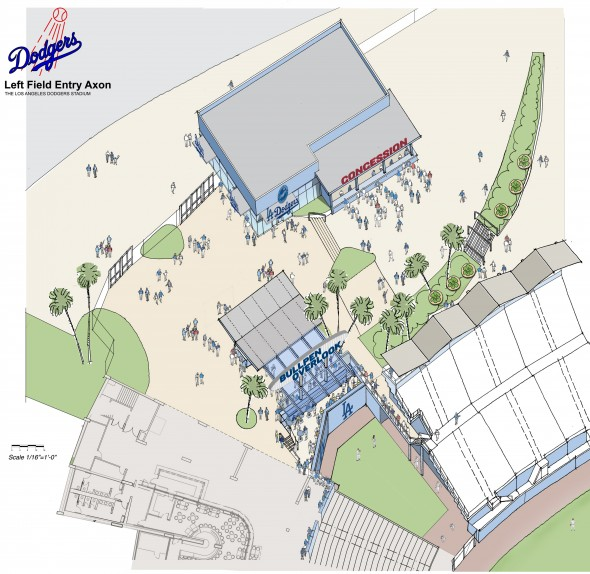 Map of the new Left field Pavilion Entry