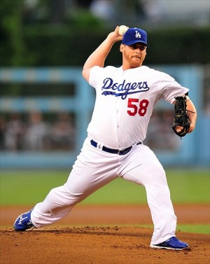 Chad Billingsley will be back mid-summer. Photo: Gary A. Vasquez-USA TODAY Sports