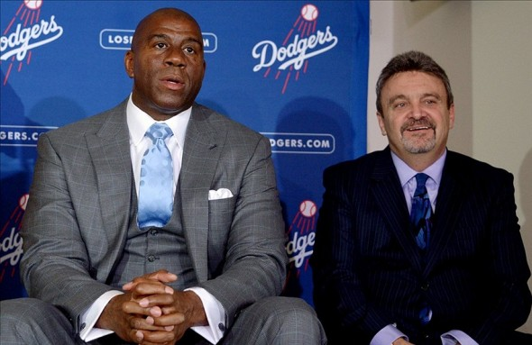 GM Ned Colletti, and Magic Johnson had a pretty busy offseason-Credit: Kirby Lee/Image of Sport-USA TODAY Sports