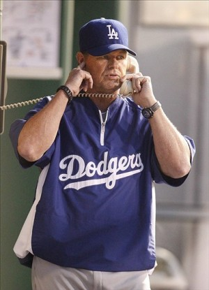 Rick Honeycutt is the longest-tenured Dodger coach currently. Photo: Charles LeClaire-USA TODAY Sports