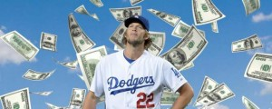 Clayton Kershaw becomes a very rich man with a 7-year $215 million contract with the Dodgers.