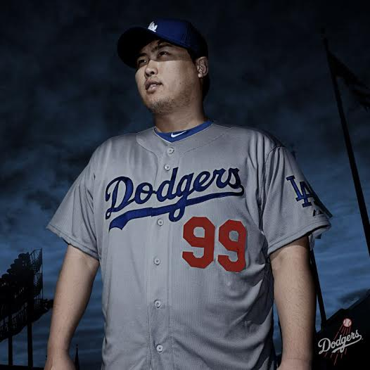 Here's Hyun-jin Ryu looking seasonal yet classy