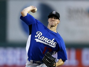 Dodgers pitching prospect delivers a pitch for Rancho Cucamonga, photo courtesy of Baseball America