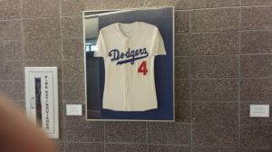 Inside the Dodger clubhouse/PR Building