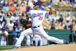 Clayton Kershaw was placed on the DL on Saturday with back inflammation. Photo: Gary A. Vasquez-USA TODAY Sports
